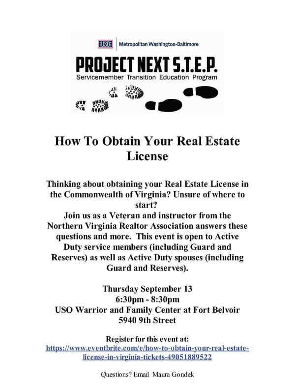 How To Obtain Your Real Estate License • USO of Metropolitan