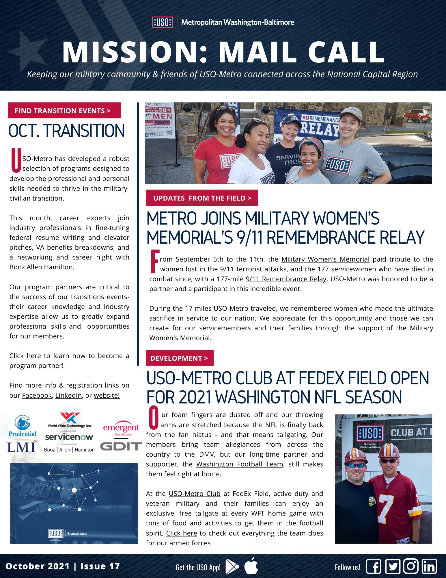 USO-Metro Newsletter